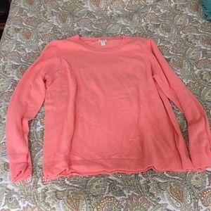 J. Crew knit long sleeve top.  Peach xxl.